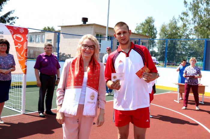 В Парфинском районе открыли спортивную площадку по проекту «Газпром – детям»